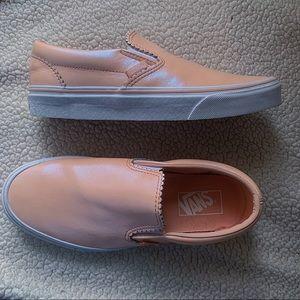 Vans Classic Slip On Sneaker Pearl Pink Suede Sz 8